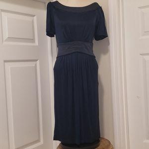 Bcbg Max AZRIA blue capped sleeve dress